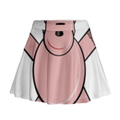 Pink Rhino Mini Flare Skirt