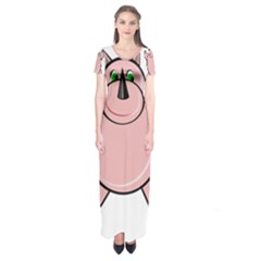 Pink Rhino Short Sleeve Maxi Dress