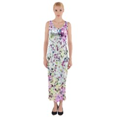 Hexagons                                                                             Fitted Maxi Dress