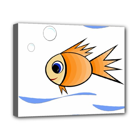 Cute Fish Canvas 10  x 8