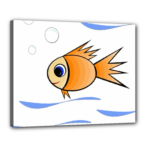 Cute Fish Canvas 20  x 16