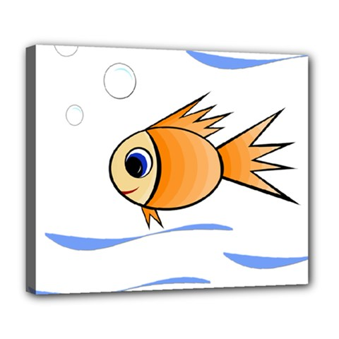 Cute Fish Deluxe Canvas 24  x 20