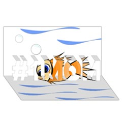 Cute Fish #1 MOM 3D Greeting Cards (8x4)
