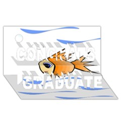 Cute Fish Congrats Graduate 3D Greeting Card (8x4)