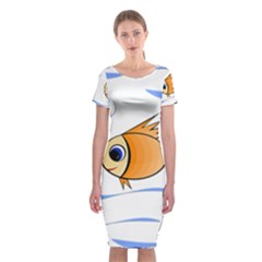 Cute Fish Classic Short Sleeve Midi Dress