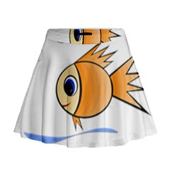 Cute Fish Mini Flare Skirt