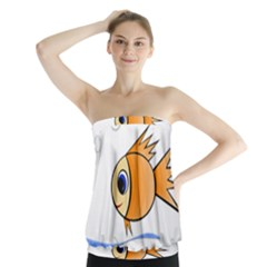 Cute Fish Strapless Top