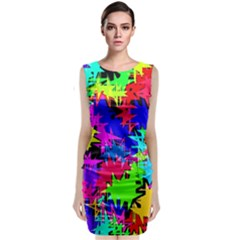 Colorful shapes                                Classic Sleeveless Midi Dress