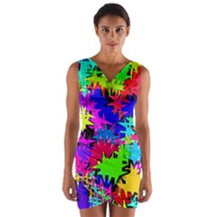 Colorful Shapes              Wrap Front Bodycon Dress