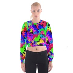 Colorful shapes                                                                               Women s Cropped Sweatshirt