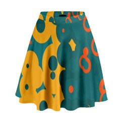 Bubbles                                                                                High Waist Skirt