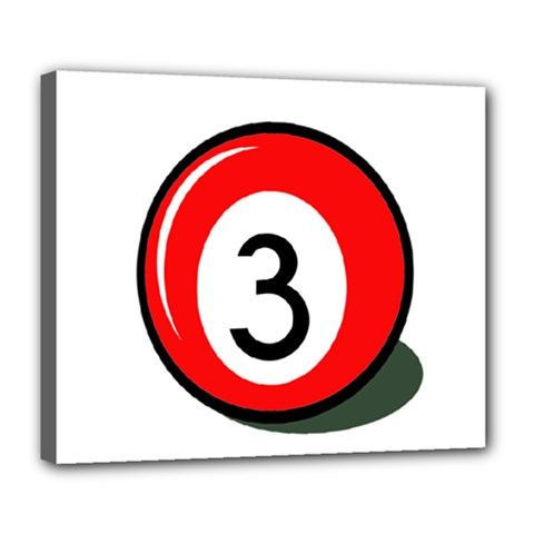 Billiard ball number 3 Deluxe Canvas 24  x 20