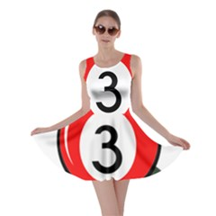Billiard ball number 3 Skater Dress