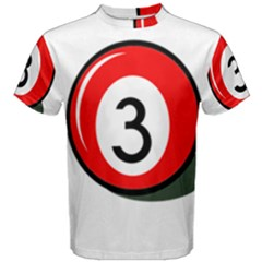 Billiard ball number 3 Men s Cotton Tee