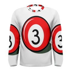 Billiard ball number 3 Men s Long Sleeve Tee