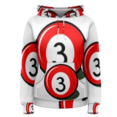 Billiard ball number 3 Women s Pullover Hoodie
