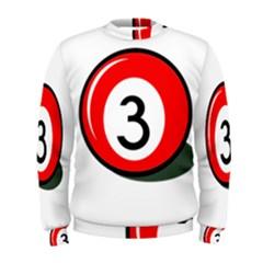 Billiard ball number 3 Men s Sweatshirt