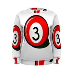 Billiard ball number 3 Women s Sweatshirt