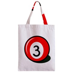 Billiard ball number 3 Zipper Classic Tote Bag