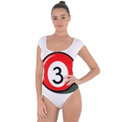 Billiard Ball Number 3 Short Sleeve Leotard