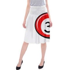 Billiard ball number 3 Midi Beach Skirt