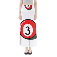 Billiard ball number 3 Maxi Skirts