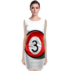 Billiard Ball Number 3 Classic Sleeveless Midi Dress