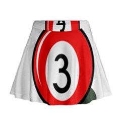 Billiard Ball Number 3 Mini Flare Skirt