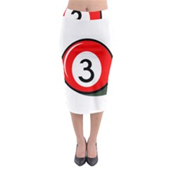 Billiard Ball Number 3 Midi Pencil Skirt
