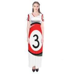 Billiard Ball Number 3 Short Sleeve Maxi Dress