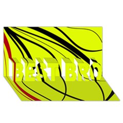 Yellow decorative design BEST BRO 3D Greeting Card (8x4)