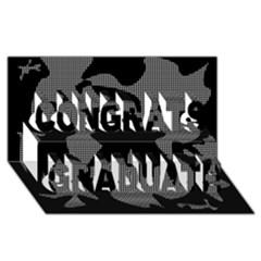 Decorative Elegant Design Congrats Graduate 3D Greeting Card (8x4)