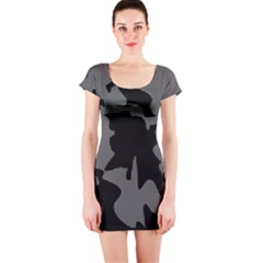 Decorative Elegant Design Short Sleeve Bodycon Dress