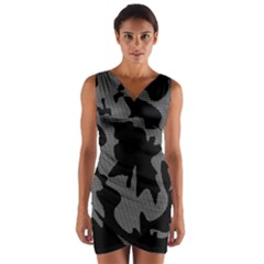 Decorative Elegant Design Wrap Front Bodycon Dress
