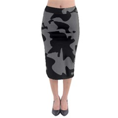 Decorative Elegant Design Midi Pencil Skirt