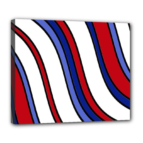Decorative Lines Deluxe Canvas 24  x 20