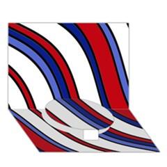 Decorative Lines Circle Bottom 3D Greeting Card (7x5)