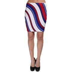 Decorative Lines Bodycon Skirt