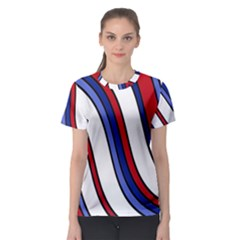Decorative Lines Women s Sport Mesh Tee