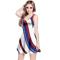 Decorative Lines Reversible Sleeveless Dress
