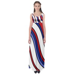 Decorative Lines Empire Waist Maxi Dress