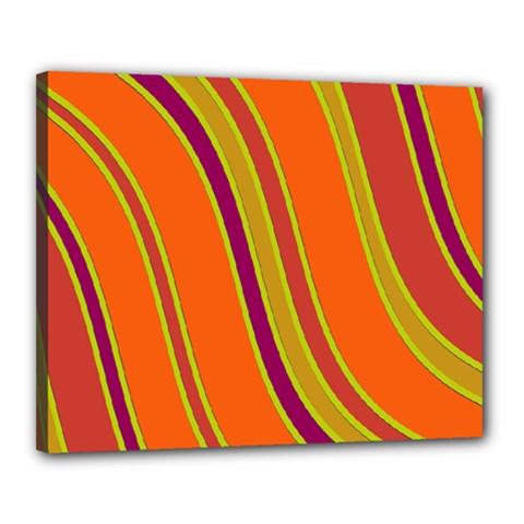 Orange lines Canvas 20  x 16