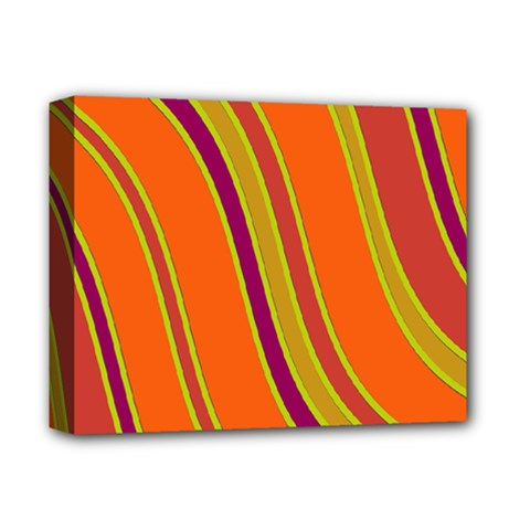 Orange lines Deluxe Canvas 14  x 11