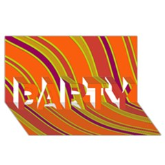 Orange lines PARTY 3D Greeting Card (8x4)