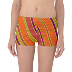 Orange lines Reversible Boyleg Bikini Bottoms