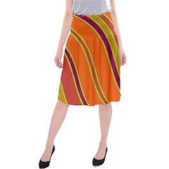 Orange Lines Midi Beach Skirt