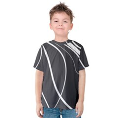Black and white elegant design Kid s Cotton Tee