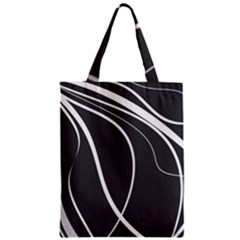 Black and white elegant design Zipper Classic Tote Bag