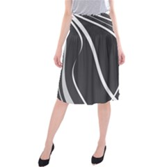 Black and white elegant design Midi Beach Skirt