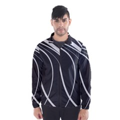 Black and white elegant design Wind Breaker (Men)